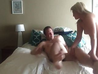 Blonde Riding Cock