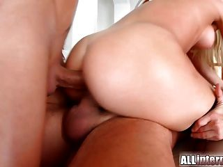 Allinternal Lucy Heart Gets Anal Creampie From Two Guys