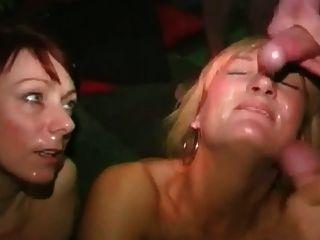 Dirty English Slut - Bukkake Party 05