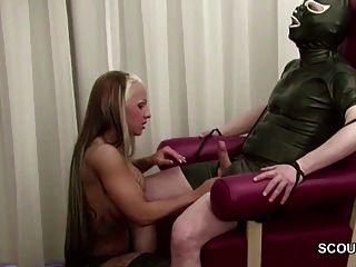 German Hot Teen Femdom Fuck Older Man In Latex