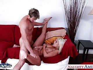 Horny Blonde Bridgette B. Fucking Her Neighbor