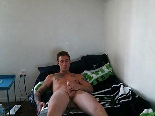 Str8 Army Tattoo Men Jerk In His Room Ll