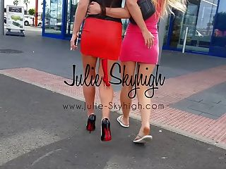 4 Sexy Girls Show How To Walk In High Heels First Time