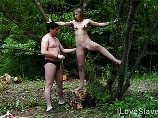 Rough And Painful Outdoor Sex Punishment For A Hot Brunette
