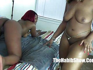 Thickred n golden strap on lesbian freak nut lover 4