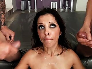 Wild Milf Francesca Le Gets Her Face Covered In Tasty Cum
