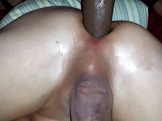 Wife Fucks Hubby With Bbc Dildo