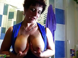 Oldnanny Busty Granny Is Doing Striptease