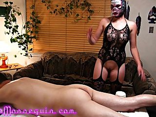 Two Masked Babes Suck My Fat Old Cock