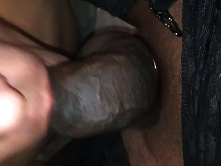 Fit Jockey Gags On T Girls Cock