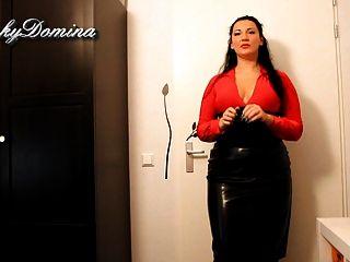 Kinkydomina In Leather Skirt - Sph