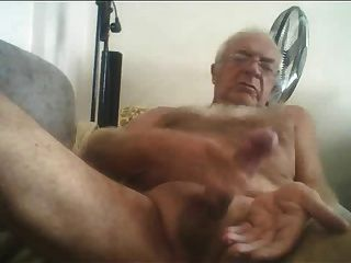 Grandpa pissing and jacking off