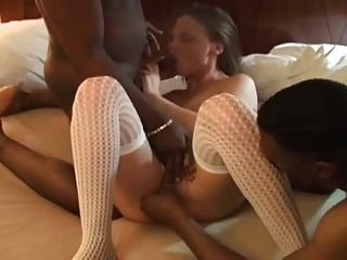 Amateur Wife Fucks Two Black Studs