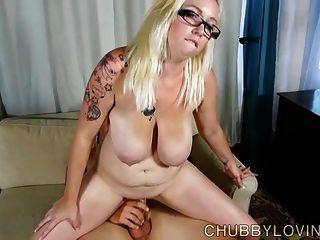 Pretty Busty Blonde Plumper Is A Super Hot Fuck