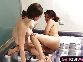 Girls Out West - Lesbian Nuru Massage And Hairy Cunt Licking