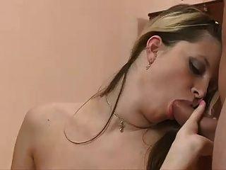 Bisex -  Puffy Tits Bareback Strap-on Mmf Cim Facial