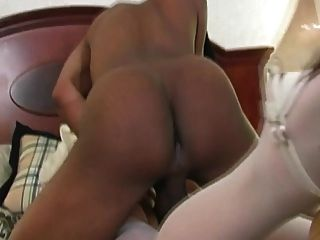 Milf And Young Girl Enjoys Black Cock