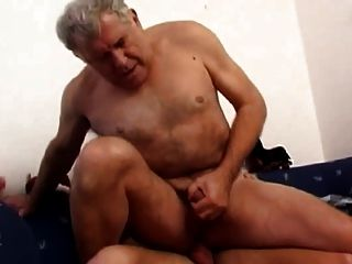 Mature Dad With Younger Fuck On Couch