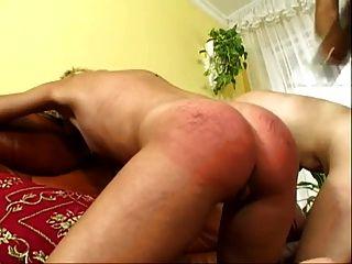 Black Mistress Use Two Blond Slaves