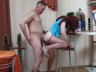 Cd In Blue Dress Fucked Bareback