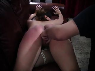 Slave Spanking And Ass Plug