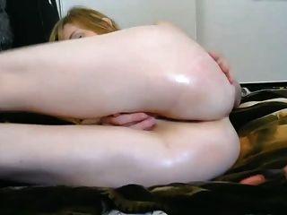 Pail Blong Round Ass Shaved Pussy Fingers Ass