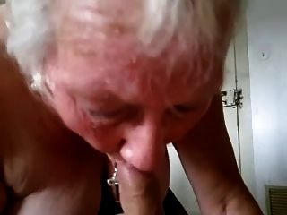 Granny suck and swallow