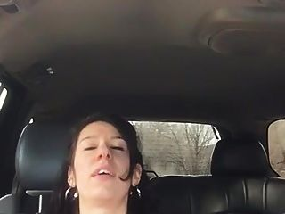 Very Cute Chick Gets Fingered To Orgasm In Back Seat