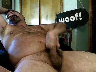 Bear Daddy Jerking Off