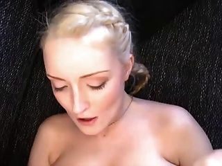 Blonde German With Pigtails Takes Ebony Cock (no Sound)
