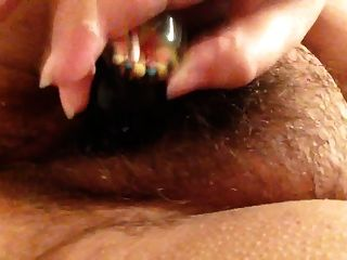 Bbw Fucks Wet Hairy Pussy With Toy
