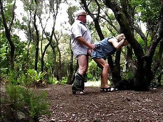 Grandpa Fucking Granny In The Woods