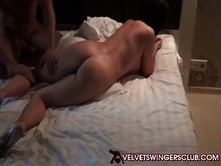 Velvet Swingers Club Newbie Wife Double Teamed Good
