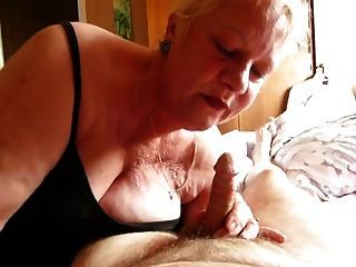 Older Wife Performs Messy Blowjob