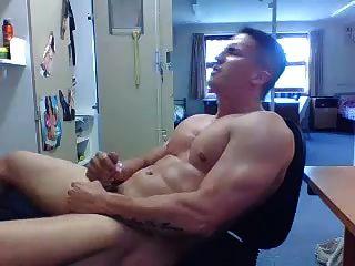 Str8 Guy Stroke In His Room
