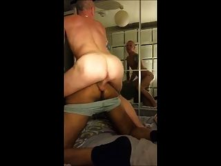 Tatted Hung White Prison Thug Fucks Black Blitch