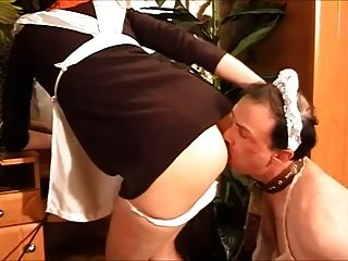 A Maid With Her Ass Licker Slave