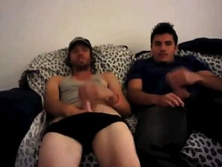 Str8 Best Friends Jerking Together Watching Porn