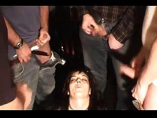 German Mature Bukkake Gangbang In Three Scenes