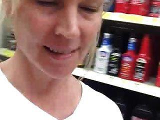 Naughty Mom Exposing At Local Store