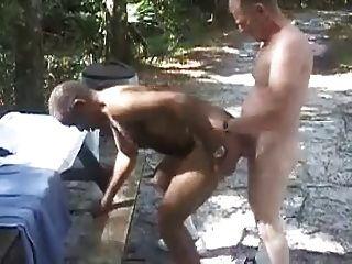 Mature White Breeds Mature Black At Rest Stop