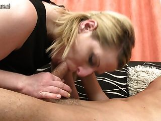 Naughty Mother Starts Sucking Cock While Not Her Son Rests