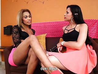 Sexy Mariana Pink And Bella In Ts On Ts Action