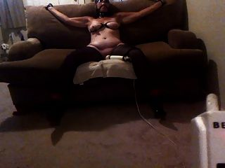 Sexy Wife Tied To The Couch