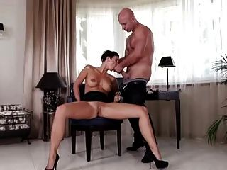 Short Haired Milf Gabrielle Sucking Fucking Big Cock