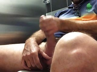 Str8 Daddy Cum In Public Restroom