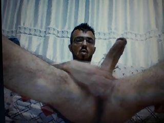 Turkish Guy Jerking Huge Cock