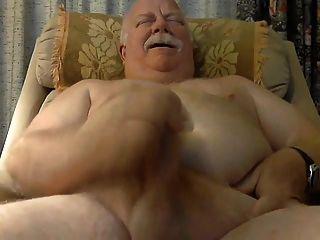 Fat Dad Masturbating