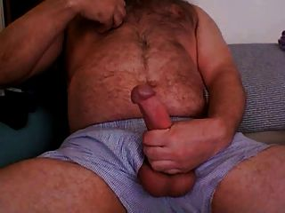 Chubby Hairy Jerk Off
