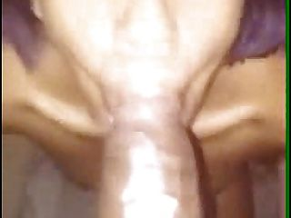 Purple Haired Ebony Bbc Cock Slaped And Short Bj For Facial